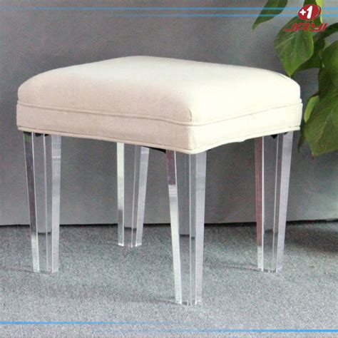 clear vanity chair clear acrylic vanity square lucite stool bench for bedroom