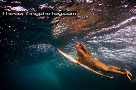duck diving photo shoot