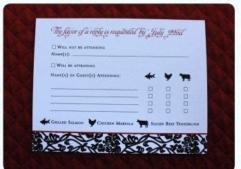 rsvp wedding meal choice google search invitespaper