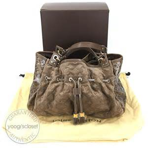 louis vuitton limited edition coco monogram suede irene