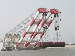 floating crane 400t 500t 600t crane barge