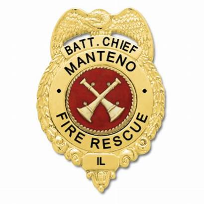 Chief Badge Manteno Fd Battalion Ems Fire