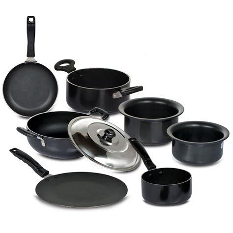 stick non cookware anodized hard pcs india