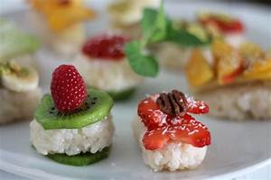 Süßes Sushi mit Obst als Dessert oder Hauptspeise {ohne