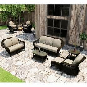 forever patio 6 pc wicker sofa seating set