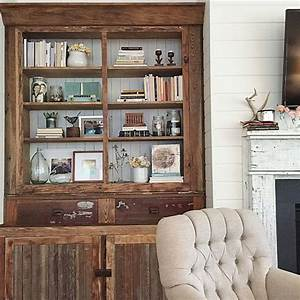 best 25 farmhouse bookcases ideas on pinterest farm With kitchen cabinets lowes with metal sunflower wall art