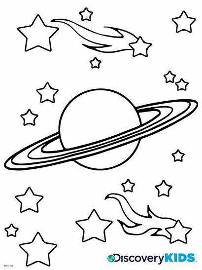 Coloring Saturn Boyama Gezegenler Planet Printable Okul