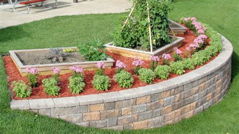 How To Build A Backyard Garden by Build A Block Retaining Wall To Beautify A Steep Slope