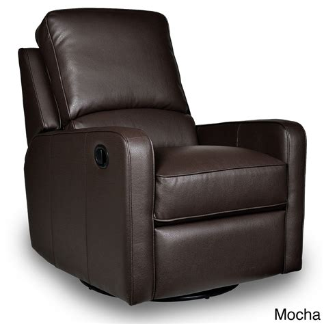 leather glider recliner with swivel recliner leather perth glider chair furniture