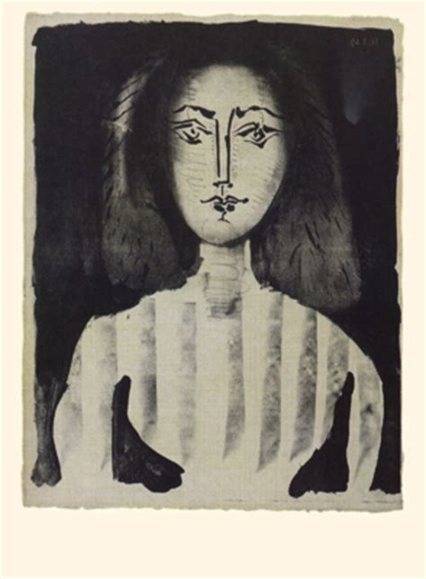 young woman   striped blouse original art  pablo