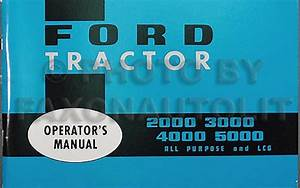 Ford Tractor Owners Manual 2000 2110 3000 4000 4110 5000
