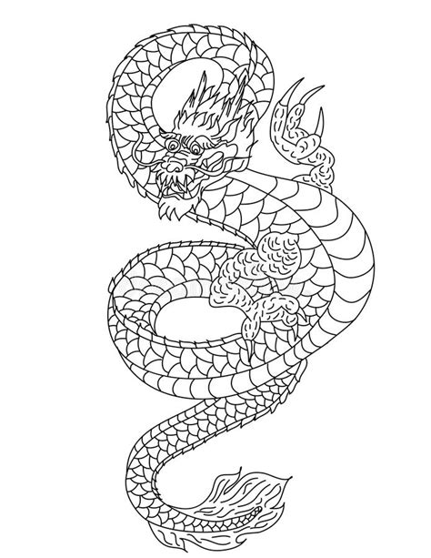 Hand Drawn Gold Dragon Japanese Tattoo Style On White Background Stock Vector - Illustration of