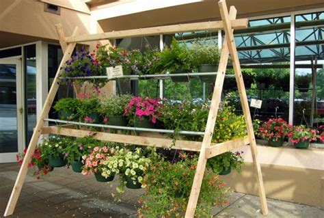 hanging basket display racks google search garden