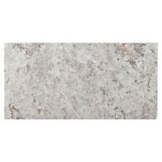 argento brushed travertine tile 8in x 16in floor and