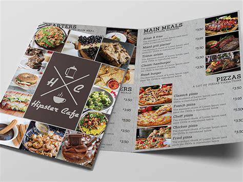 cafe bi fold menu  mockup mockup  downloads