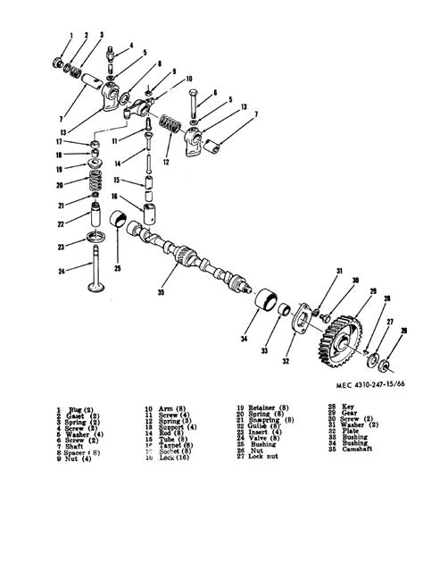 Figure 66 Camshaft Parts