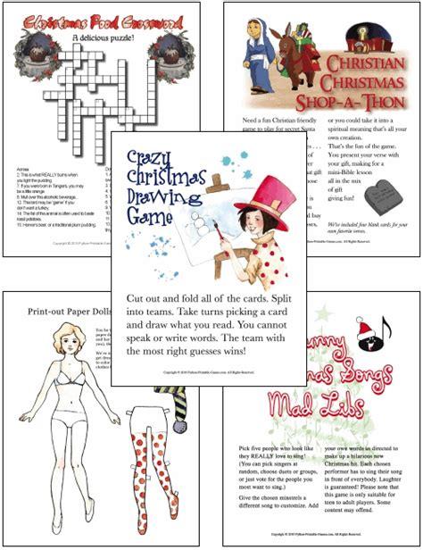printable christmas party games pack download printable hd desktop wallpaper