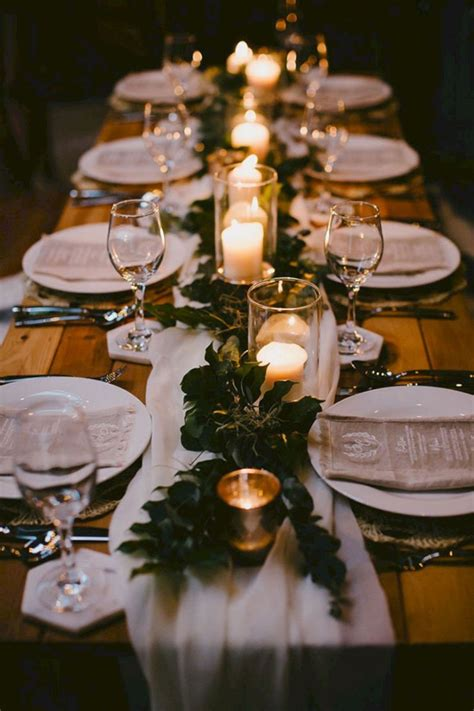 50+ Awesome Wedding Reception Table Setting Ideas OOSILE