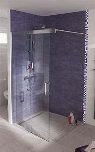 17 meilleures idees a propos de paroi de douche With porte de douche coulissante avec mosaique nacre salle de bain