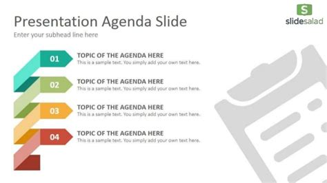 agenda diagrams powerpoint  template slidesalad