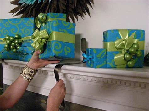 hooks for stockings on brick wrapped gift holders gardens paper and wreath hanger