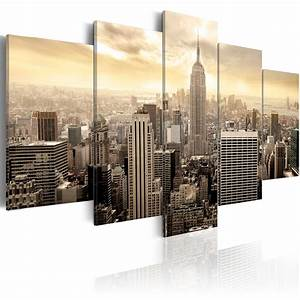 Leinwand 5 Teilig : wandbilder xxl new york skyline leinwand bilder 5 teilig wohnzimmer d b 0006 b m ebay ~ Whattoseeinmadrid.com Haus und Dekorationen