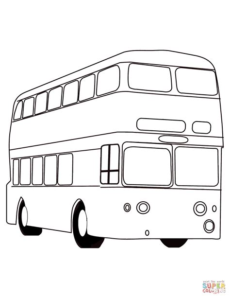 london red bus coloring page  printable coloring pages