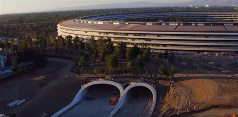 siege social planet sushi apple park drone shows work on landscaping