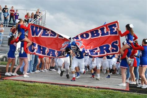 west noble high school boys varsity football fall game