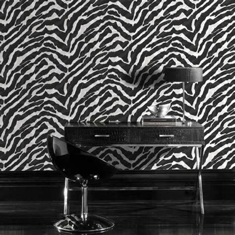 Black And White Animal Print Wallpaper - black white zebra print wallpaper 10m new animal feature