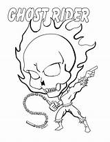 Ghost Rider Coloring Printable Chibi Colouring Fusion Easy Ghostrider Sheets Draw Superhero Cartoon Fortnite Marvel Drawing Drawings Disegno Books Colorare sketch template