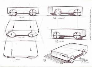 Drawing wheels in perspectiveCar sketching tips– www