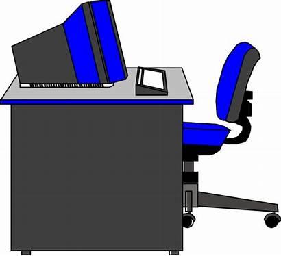 Desk Office Clipart Clip Main Transparent Cliparts