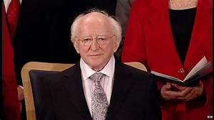 Michael D Higgins inaugurated as new Irish president - BBC ...