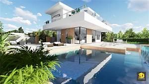 perspective 3d d39une maison contemporaine 3dgraphistefr With la plus belle maison du monde avec piscine 15 lux residence immobilier de luxe immobilier