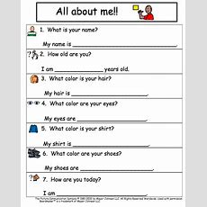 Autism Tank All About Me Worksheet (free