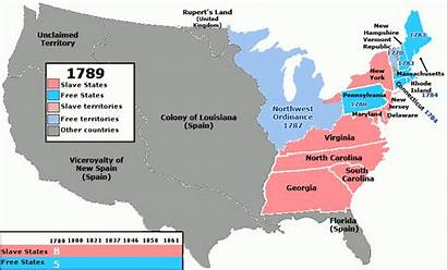 States United Between America South North Slavery