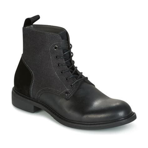 Star Raw Warth Mid Black Free Delivery Spartoo