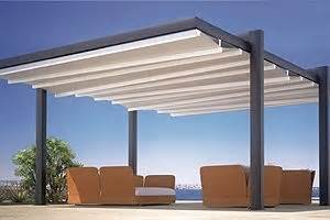 forli freestanding patio cover system cantilever posts motorized manual powdercoated