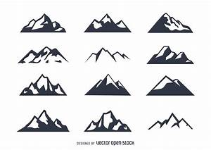 Mountain icon set - Vector download
