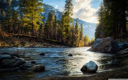 Stream Mountain Desktop Wallpapers Hdr Background River