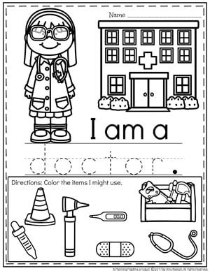 community helpers preschool theme planning playtime 246 | Community Helpers Worksheets Doctor