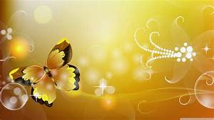 Yellow butterfly wallpaper