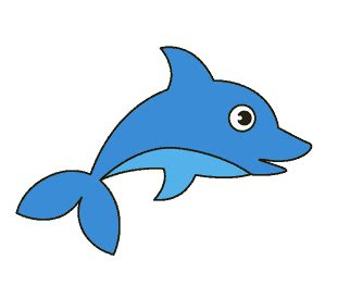 draw  dolphin    easy steps easy drawing