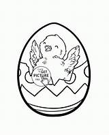 Easter Coloring Egg Chick Drawing Eggs Colouring Cartoon Bunny Popular Printables Wuppsy Sheets Getdrawings sketch template