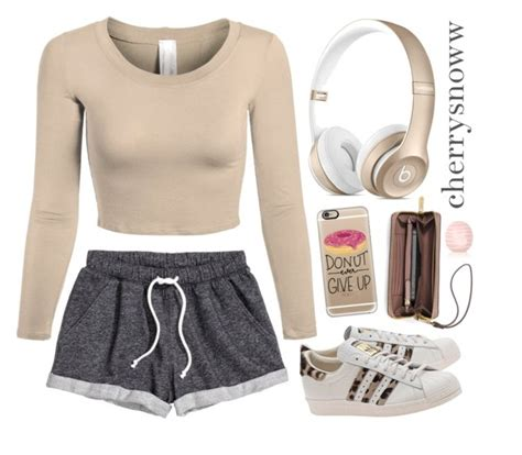 U0026quot;Cozy cute casual swag outfitu0026quot; by cherrysnoww liked on Polyvore featuring Hu0026M adidas Originals ...
