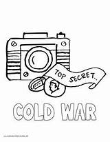 Spy Pages Coloring History War Volume Cold Detective Camera Mystery Equipment Gear Gadgets Secret Agent Myhomeschoolprintables Printables Vbs Timeline Printable sketch template