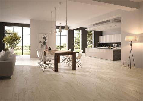 floor l in dining room wood look porcelain dining room contemporary with white oak modern tile themonumentview net