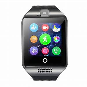 Camera Connectée Iphone : amanstino bluetooth smartwatch q18 montre connect e avec tf cam ra et la carte sim pour ios ~ Melissatoandfro.com Idées de Décoration