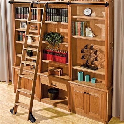 rockler classicvintage rolling library ladder track